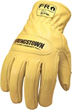 Youngstown Glove 12-3365-60-L FR Ground Glove Lined w/ Kevlar Performance Work Gloves, Large, Tan