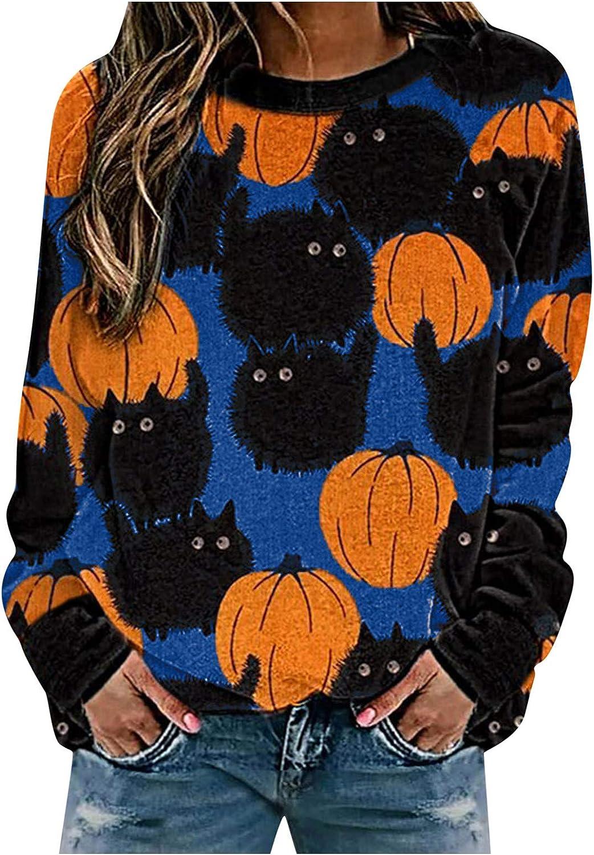 Halloween Women Long Sleeve Top,Cute Sweatshirt for Womens Teens Girls Animal Cosplay Hoody Tops Anime Hoodie Kawaii Jumper