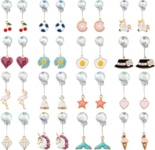 SOTOGO 16 Pairs Play Earrings Clip on Earrings with Pearl for Little Girls and Women