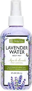 De La Cruz Lavender Water Body Mist - Lavender Spray for Skin and Hair With Pure Lavender Essential Oil 8 fl oz (236 mL)