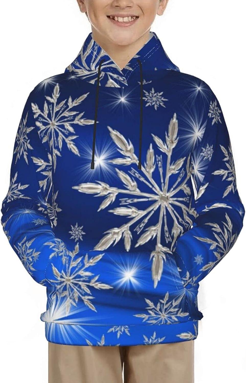 Snowflakes Art Christmas New Year Winter Sweatshirt Pullover Hoo