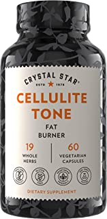 Crystal Star Cellulite Tone (60 Capsules) - Herbal Supplement That Helps Release Cellulite & boosts Fat to Energy - Fenugr...