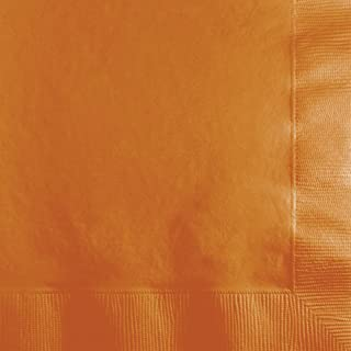 Creative Converting 600 Count Touch of Color Beverage Napkins, Pumpkin Spice