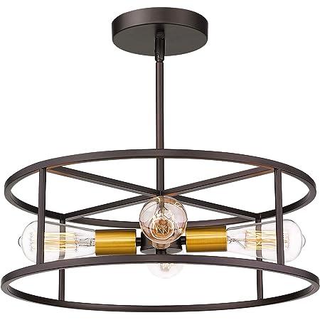 Amazon Com Quoizel Nhr1715wt New Harbor Vintage Semi Flush Mount Ceiling Lighting 3 Light 180 Watts Western Bronze 11 H X 15 W Home Improvement