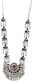 Ethnic Antique Bollywood Handmade Statement Gypsy Indian Turkish Tribal Oxidized German Silver Fashion Necklace