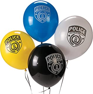 Police Party Latex Balloons (24 Pack) Birthday Party Decorations