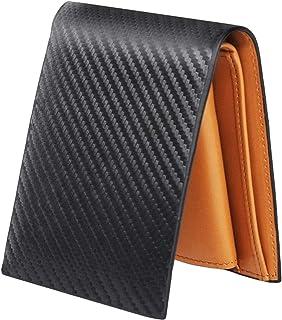 [Amazon限定ブランド]SALBA(サルバ) 薄い財布 二つ折り財布 本革 オールインワン ミニ財布 メンズ