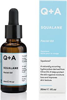 Q+A Squalane Facial Oil. A super hydrating, vegan facial oil