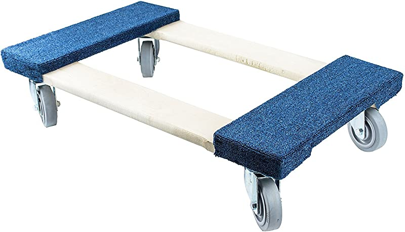 Troy Safety Movers Dolly With Soft Non Marking TPR Wheels 5 Inch Wheels Blue