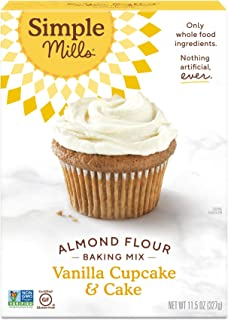 Simple Mills Almond Flour Baking Mix, Gluten Free Vanilla Cake Mix, Muffin pan ready, Made with whole foods, (Packaging Ma...