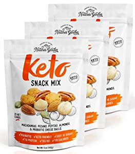 Nature's Garden Keto Snack Mix - Delicious & Fresh Flavor Natural Friendly Keto - Premium Quality, Perfect for Breakfast - 5 oz (Pack of 3)