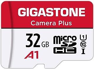 Gigastone Micro SD Karte, 32 GB, Kamera Plus, Full HD, erhältlich 90 MB/s, U1 C10 Class 10 Micro SDHC, UHS I Speicherkarte mit Adapter