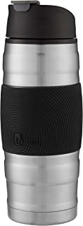 Bubba HERO Grip Insulated Stainless Steel Travel Mug, 16 oz, Stainless Steel