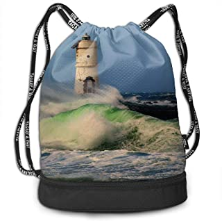 Drawstring Backpack Lighthouse And Hope Bags