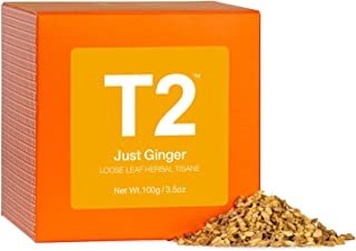 T2 Tea Just Ginger 3.5 Oz Loose Leaf Herbal Tea In Box, 3.5 Oz (T140AE014)