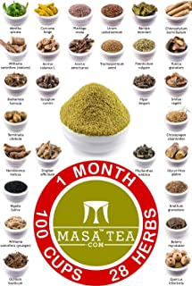 Masa Tea 1 Month Diet Pack - World's Best Fast Slimming Weight Loss, Immunity Booster, Anti Aging, Hair Growth, Muscle Rep...