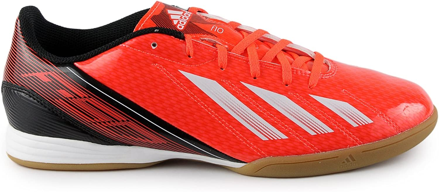 Adidas F10 Indoor Soccer shoes - Red White Black (Men)