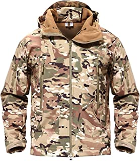 fd0ac36b1bb0b MAGCOMSEN Men's Tactical Army Outdoor Coat Camouflage Softshell Jacket  Hunting Jacket
