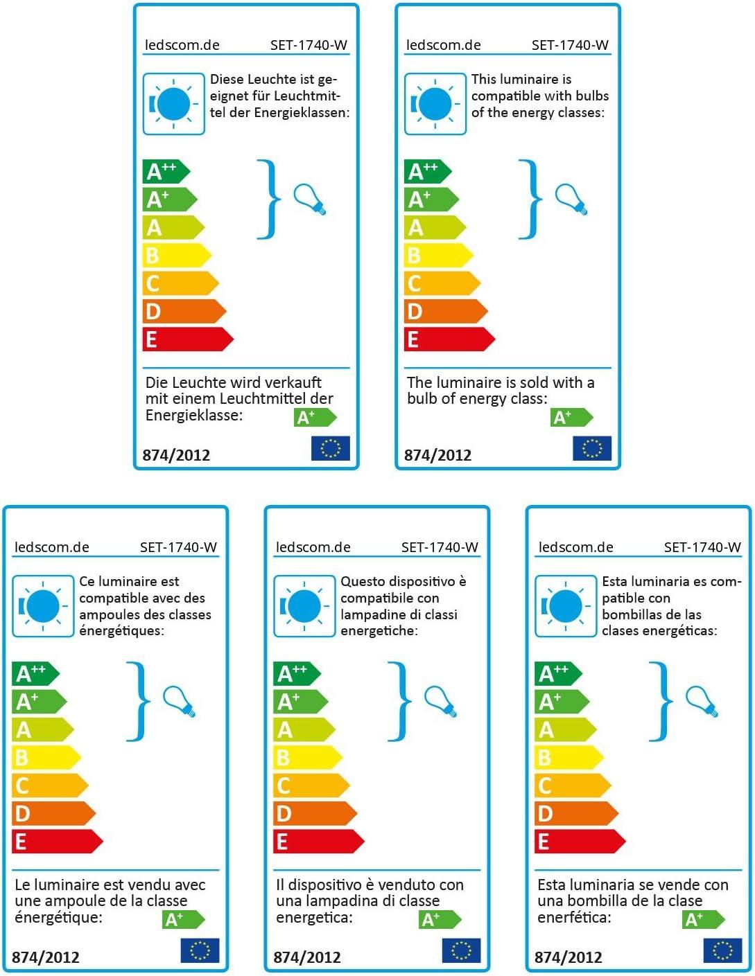 ledscom.de LED Gartenstrahler MIBU mit Erdspieß für außen, Edelstahl, ohne Leuchtmittel 340lm (=32 W) / Lichtfarbe: Weiß