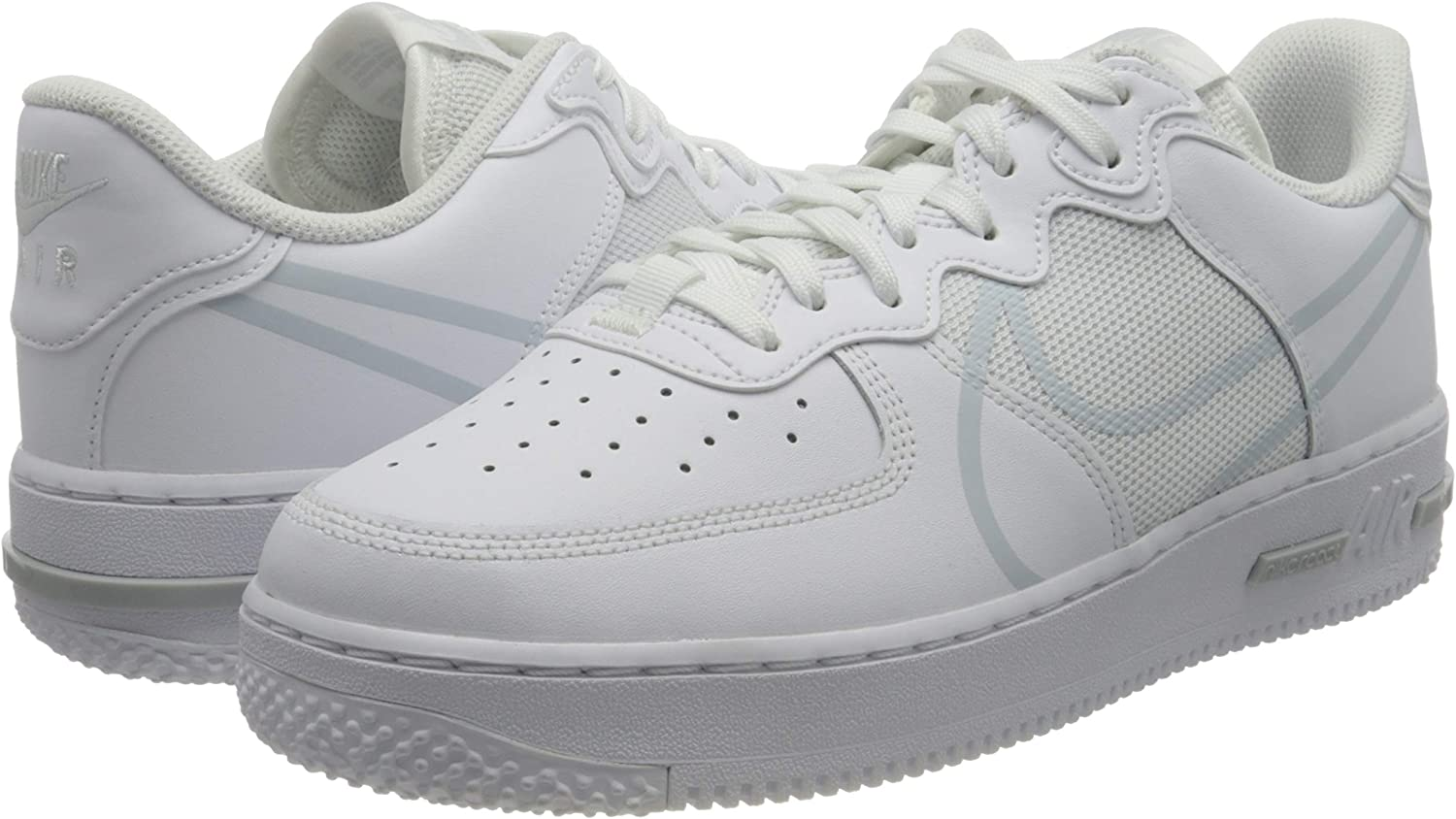 Nike Mens Air Force 1 Low React CT1020 101 White - Size 11.5 ...