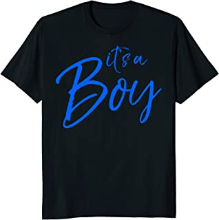 It's a Boy Shirt Cute Blue Text Pink Just Kidding Tee Funny