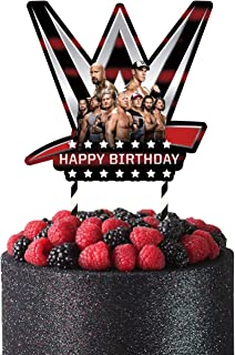 Wwe Cake Topper Decorations Birthday Party Wwe Theme for Boys, 1 count