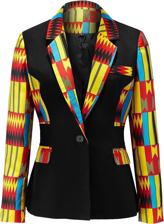 We OFFer at cheap prices Max 57% OFF Shenbolen Women African Print Kente Coat Top