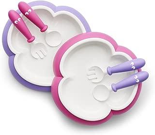 BABYBJ?RN 婴儿餐具 勺子,叉子(粉色/紫色),2件