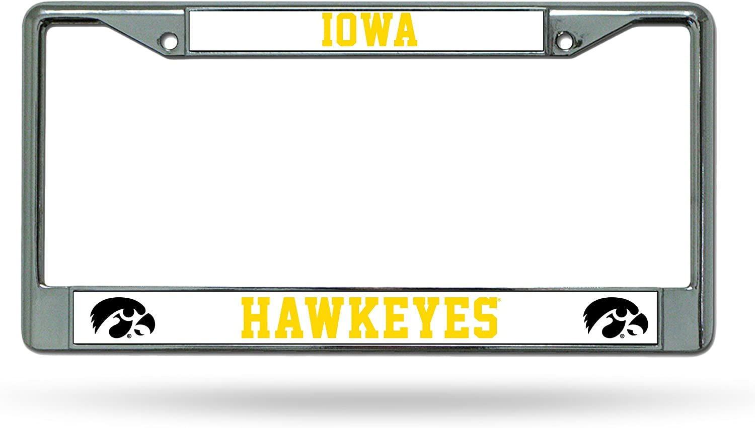 NCAA Iowa Hawkeyes Standard Chrome Max 88% OFF Sales of SALE items from new works Plate Frame License