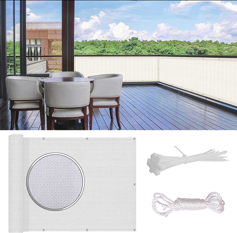 WUZMING Balcony Privacy Max 52% OFF Protection UV New York Mall Sun Windshield