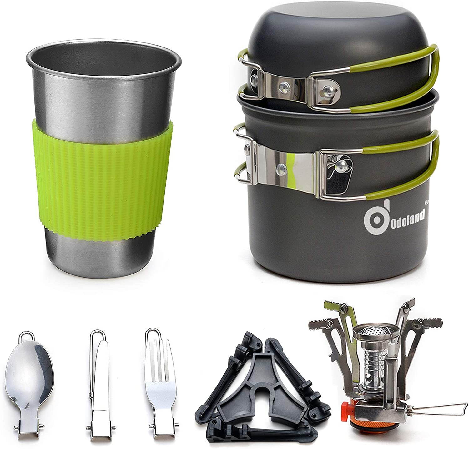 Odoland Camping Cookware Stove Carabiner Tripod a Stand Canister Max 61% OFF Fees free