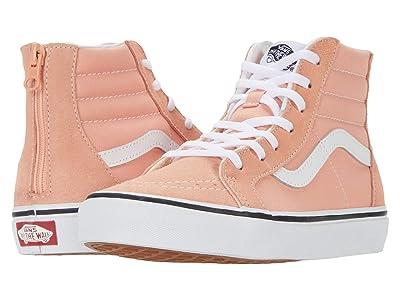 Vans Kids SK8-Hi Zip (Big Kid) (Salmon/True White) Girls Shoes
