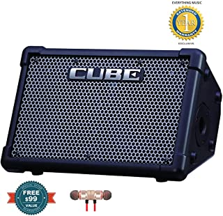 Roland CUBE Street EX 4-Channel 50-Watt Battery Powered Amplifierincludes Free Wireless Earbuds - Stereo Bluetooth In-ear and 1 Year Everything Music Extended Warranty