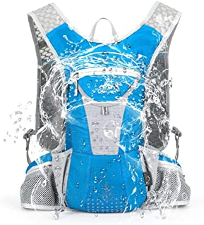 Outdoor IX Lightweight Hydration Backpack Marathoner Running Race Cycling Riding Rucksack with Helmet Holder, Multi-Function Sports Day Pack