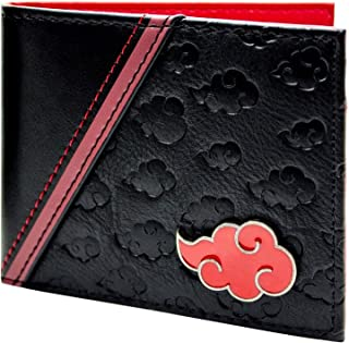Naruto Shippuden Akatsuki Cloud ID and Card Bi-Fold Wallet Black