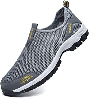 Men Walking Shoes, Summer Mesh Breathable Sneakers or Outdoor Hiking Shoes,Lightweigt and Soft for Walk