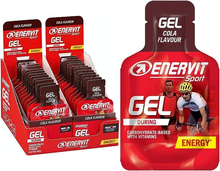 Gel energizzante gusto cola confezione da 24 gel da 25ml  enervit enervitene spor B075FSGLDF