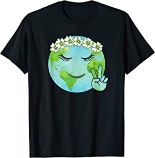 Flower Crown Mother Earth - Earth Day T Shirt