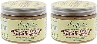 Shea Moisture Jamaican Black Castor Oil Strengthen Grow And Restore Treatment Masque For Unisex, 23.9 Oz.