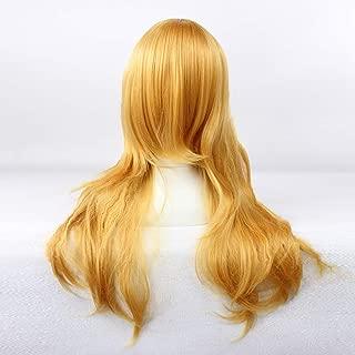 HOOLAZA Light Brown Long Curly Wig Shugo Chara Final Fantasy Versus 13 Stella Nox Fleuret Oshino Shinobu for the Halloween Party Cosplay Wigs