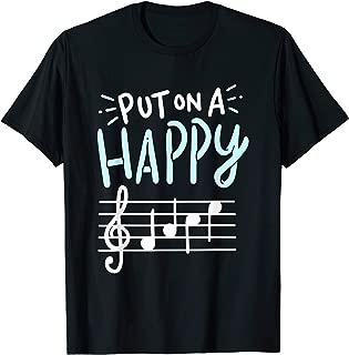 Put On A Happy Face Music Shirt - Funny Music Teacher Tshirt