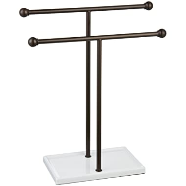 AmazonBasics Double-T Hand Towel Holder and Accessories Jewelry Stand