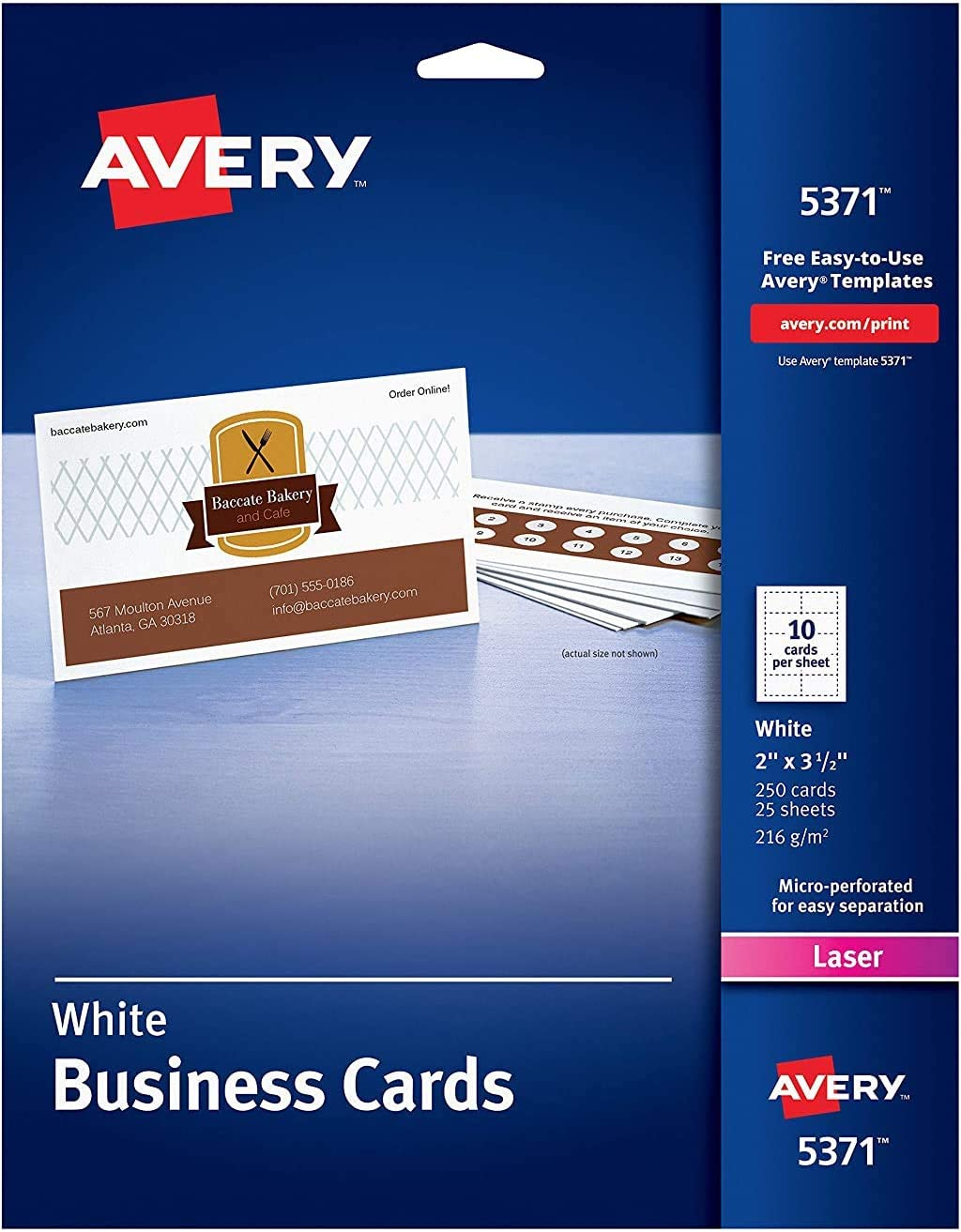 Avery Mail order cheap Uncoated Business Cards for per 250 sold out Laser Printers