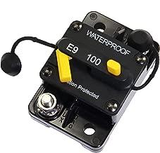 T Tocas Hi-Amp Waterproof 50A Circuit Breaker with Manual Reset 48VDC, Panel Mount- 50A 12V
