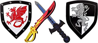 Chi Mercantile Warrior Soldier Foam Swords and Shields with Sigil 2-Set