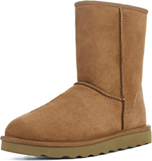 Genuine Australia Sheepskin Snow Winter Boots for Women, Classic Water Resistance Shearling Boots Women