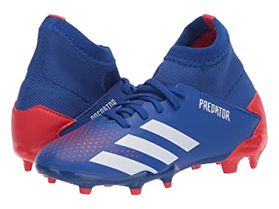 adidas Kids Predator 20.3 FG J Soccer (Little Kid/Big Kid) (Team Royal Blue/White/Active Red) Kids Shoes