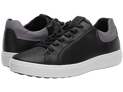 ECCO Soft 7 Street Sneaker (Black/Titanium) Men