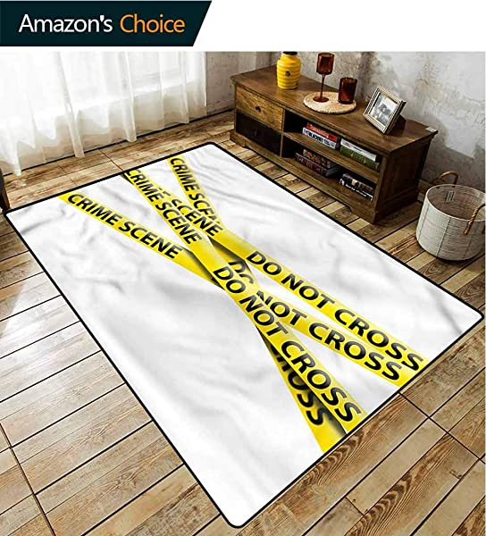 TableCoversHome Murder Scene Nautical Area Rug Bedroom Restriction Barrier Pattern Printing Carpet Fashionable High Class Living Bedroom Rugs 3 X 5