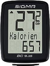 Sigma Sport BC 9.16 Fietscomputer, 9 functies, maximale snelheid, bekabelde fietssnelheid, zwart